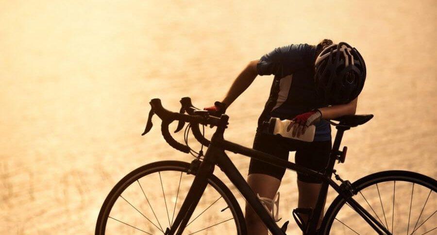 Cycliste au repos
