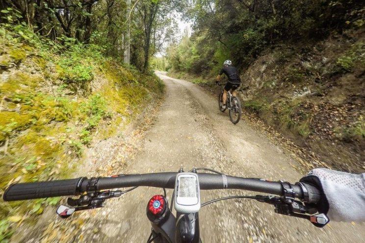 POV vélo de montagne