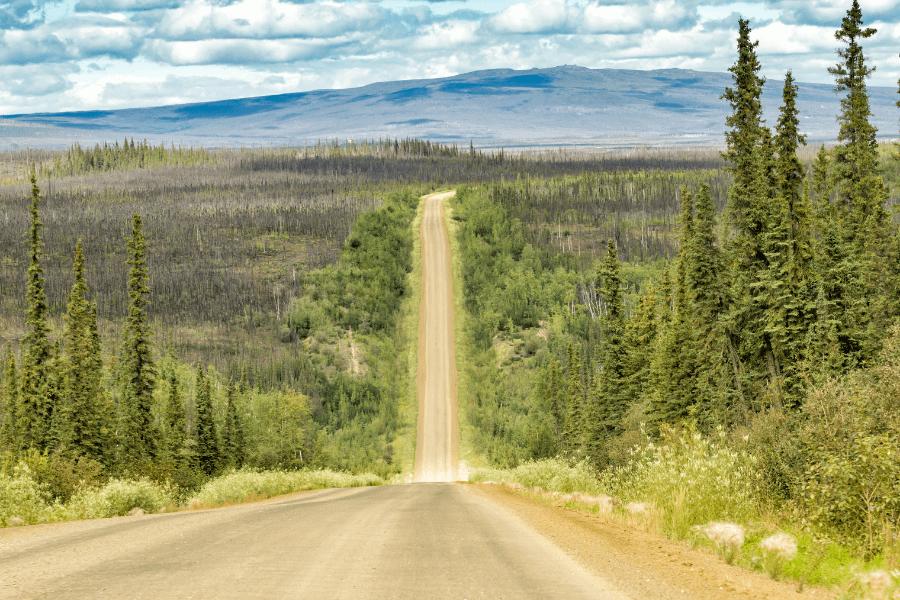Long chemin de terre